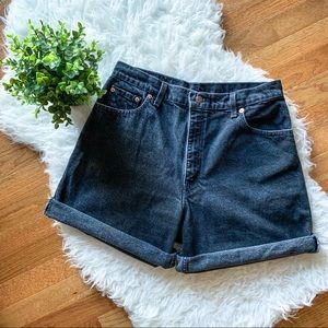Levi's Vintage 90s Mom Jeans Black Denim Shorts